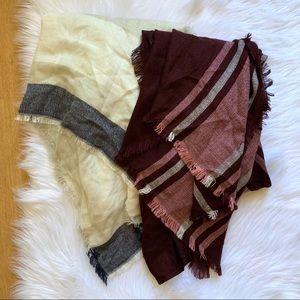 Franchesca's Ruana Drapey Vest Scarf Lot of 2
